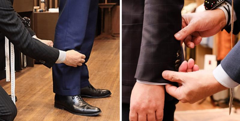 スーツ サイズ 直し