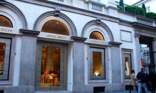 ジョルジオ・アルマーニの路面店舗
