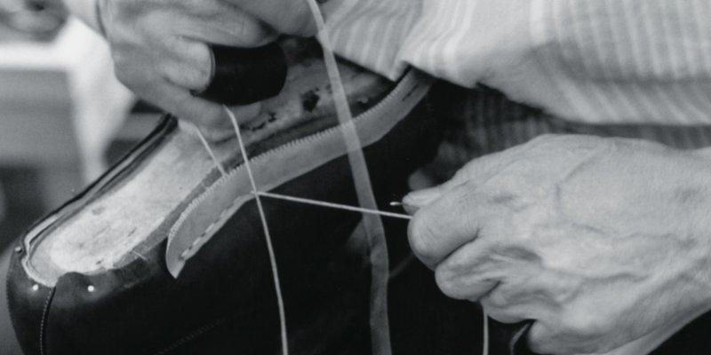 イタリアのグッドイヤーウェルト製法で作られた靴