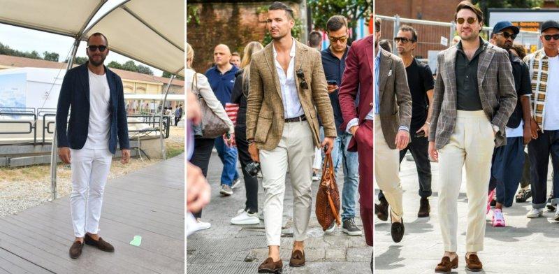 イタリアの靴を履く外国人男性