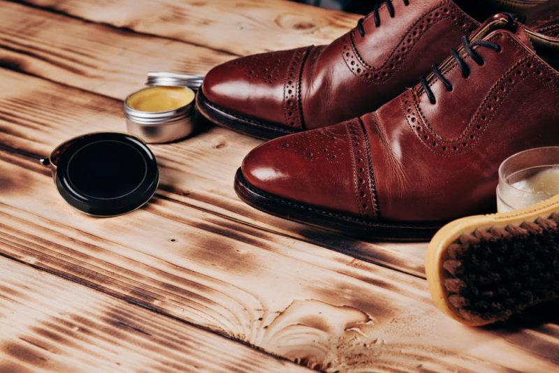 革靴 水シミ