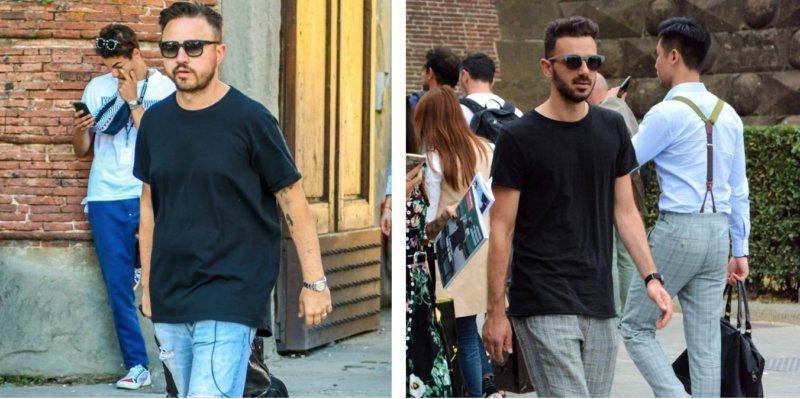 Tシャツ 重ね着 メンズ